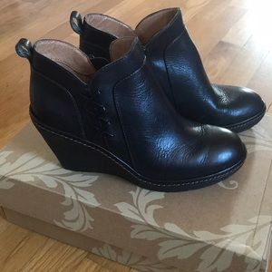 Sofft wedge leather booties, size 6.5